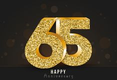 20 - year happy anniversary banner. 20th anniversary gold logo on dark background. Royalty Free Stock Photo