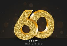 20 - year happy anniversary banner. 20th anniversary gold logo on dark background. Royalty Free Stock Images