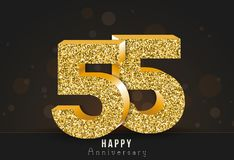 20 - year happy anniversary banner. 20th anniversary gold logo on dark background. Stock Photos