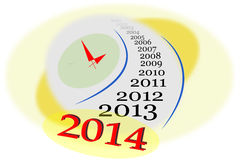Year 2014 Stock Images