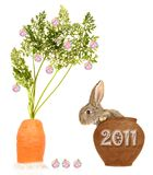 Year of a hare Royalty Free Stock Images