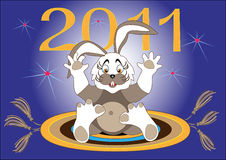 Year Hare-2011.Illustration.Background. Begins a New Year-Year Hare.Illustration.Background Royalty Free Stock Image