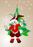 Year Hare.Happy New Year. Royalty Free Stock Photography
