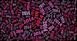 2014 Year holiday background. 2014 Year word cloud holiday background Royalty Free Stock Photo