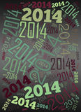 2014 Year holiday background. 2014 Year word cloud holiday background Stock Photography
