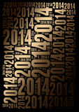 2014 Year holiday background. 2014 Year word cloud holiday background Royalty Free Stock Photos