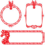 Year of Horse border design elements Royalty Free Stock Photography