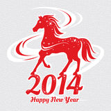 Year of the horse card. Vector illustration Stock Image