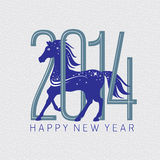 Year of the horse card. Vector illustration Stock Photo