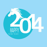Year of the horse card Stock Photography