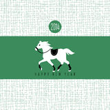 Year of the horse card. Vector illustration Royalty Free Stock Photos