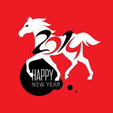 Year of the horse card. Vector illustration Stock Photography