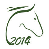 2014 -  year of horse. 2014 - year of horse by Chinese calendar Stock Photography