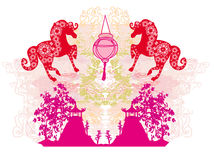Year of Horse - Chinese New Year 2014. Illustration vector illustration