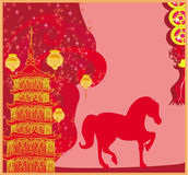 Year of Horse - Chinese New Year 2014 Royalty Free Stock Images