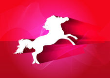 Year of Horse Chinese New Year. Year of Horse horse shape with abstract background Stock Photos