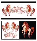 Year of the horse. 2014 year of the decorative horse Royalty Free Stock Photo
