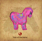 Year of the horse design,Chinese Knots with Luck Symbol. Stock Photography