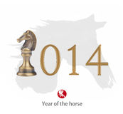 Year of the horse 2014 design. Happy Chinese New Year greeting stock illustration