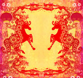 Year of Horse graphic design Stock Photo