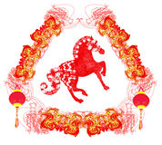 Year of Horse graphic design Stock Image