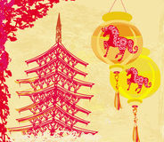 Year of Horse graphic design Royalty Free Stock Photography