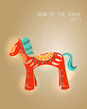Year of the Horse 2014 greeting card. 2014 Chinese New Year, colorful horse illustration. EPS10 vector file with transparency layers royalty free illustration