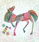 Year of  horse. Happy new year 2014. EPS 10 Royalty Free Stock Photo