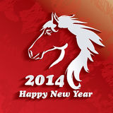 Year of the Horse. Happy New Year 2014. Vector illustration Royalty Free Stock Photos
