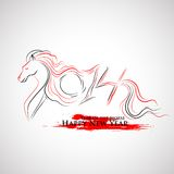 Year of the Horse. Illustration of 2014 - Year of the Horse Stock Images