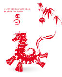 2014 Year of the Horse illustration. 2014 Chinese New Year of the Horse red silhouette  greeting card. EPS10 vector file with transparency layers Stock Photography