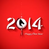 Year of the Horse. Illustration of Happy New Year 2014 - Year of the Horse Royalty Free Stock Photo