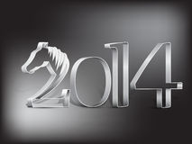 Year of the horse - New Year's card 2014. Happy New Year card to the year of the horse Stock Photos