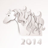 Year of the Horse. Paper cutout Royalty Free Stock Image