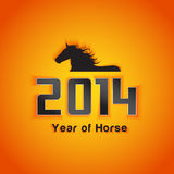 Year of horse with shadow effect. Sample Royalty Free Stock Image