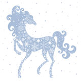 Year of the Horse 2014. Horse of Snowflakes. Vector background. New Year 2014 royalty free illustration