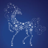 Year of the Horse 2014. Horse of Snowflakes. Vector background. New Year 2014 stock illustration