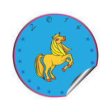 Year of the horse sticker Stock Images