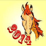 2014 year of the horse Stock Image