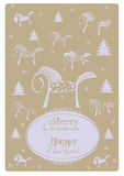 Year of the horse 2014. Vintage card Royalty Free Stock Images