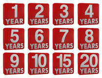 Year icon. One 3d render of a set of icons with numbers and the word year Royalty Free Stock Images