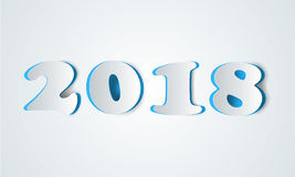 2018 year icon. Slice number. 2018 year icon on the white background Stock Photo