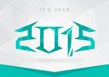 2015 Year icon symbol signage. New year with a pixel diamond tex Stock Photo