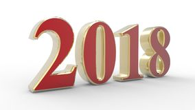 Year of 2018 Stock Photography