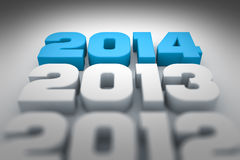 Year 2014. An image of the number and new year 2014 Royalty Free Stock Photos