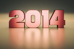 Year 2014 Stock Image