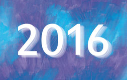 2016 year. Inscription 2016 Year- on acrylic paint background stock illustration