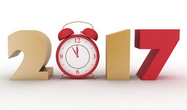 2017 year. Isolated 3d render illustration Stock Images