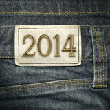 Year 2014 - jeans fashion  Royalty Free Stock Image