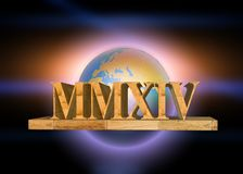 2014 roman numeral. Year 2014 marble roman numeral style royalty free illustration